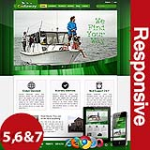 BEST Business 104 Green Skin Flexible Responsive Skin *4 Modules* Mobile Skin Tablet Skin